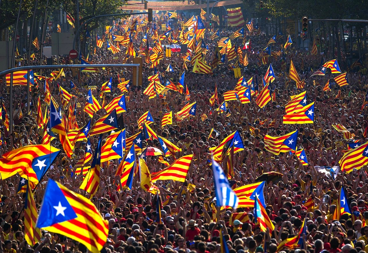 catalonia-flags